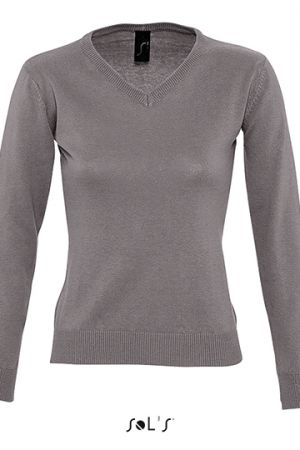 Women`s V Neck Sweater Galaxy